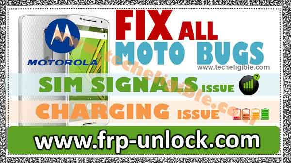 Motorola: How to fix sim network problems and charging (Sequetest bug) Fix