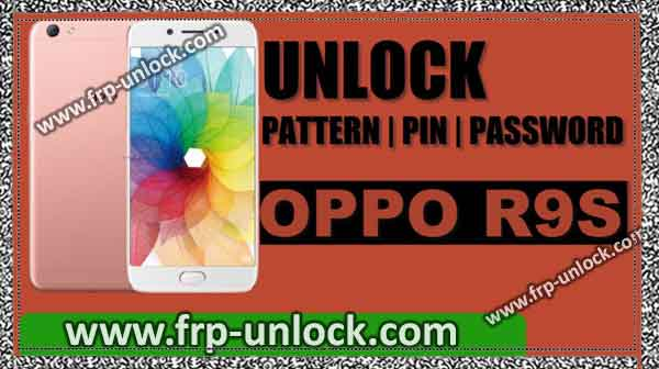 remove oppo r9s pattern lock